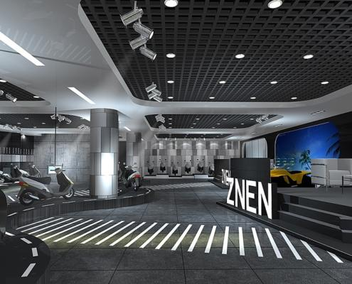 Zhongneng Vehicle Group's booth design and construction