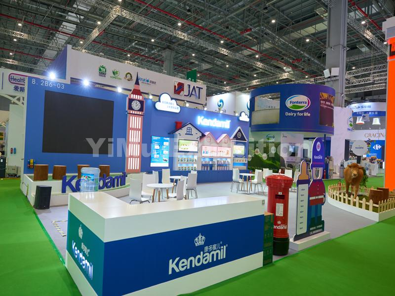 Kendamil's booth construction
