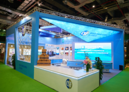 Huanan Fishery's exhibition stand design
