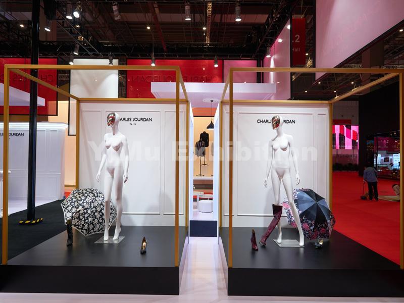 Charles Jourdan's trade show booth design